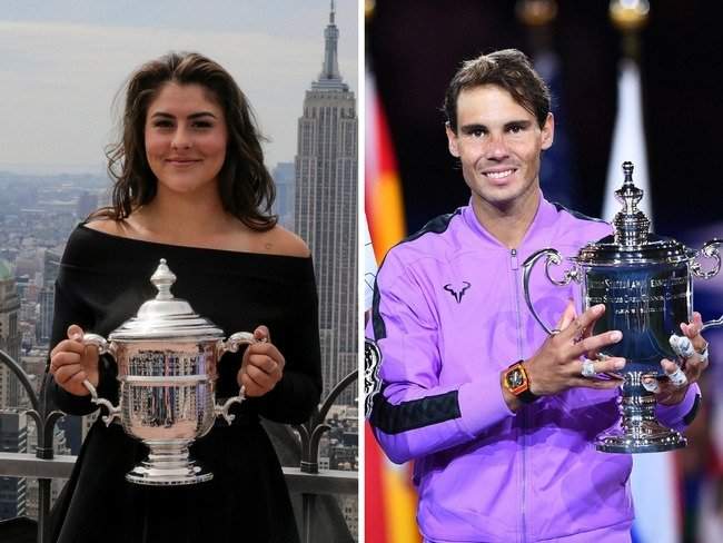 Rafael Nadal and Bianca Andresscu