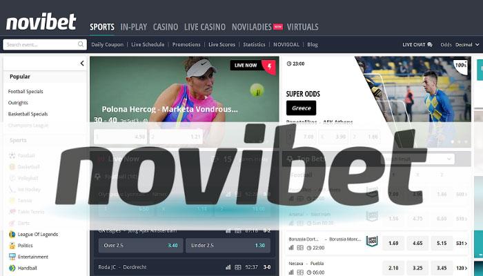 Novibet betting site